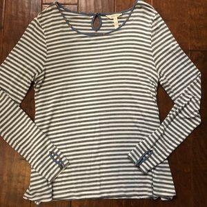 Matilda Jane Gray White Striped Shirt